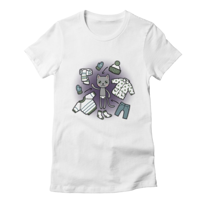 Hello winter... Women's Fitted T-Shirt by Crazy Pangolin's Artist Shop