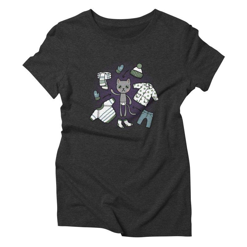 Hello winter... Women's Triblend T-Shirt by Crazy Pangolin's Artist Shop