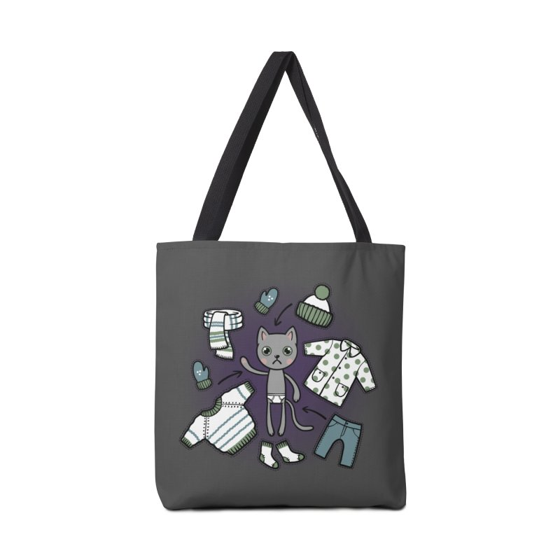 Hello winter... Accessories Tote Bag Bag by Crazy Pangolin's Artist Shop