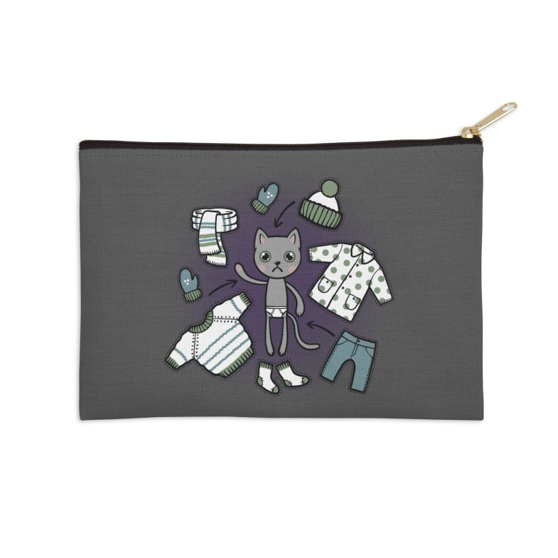 Hello winter... Accessories Zip Pouch by Crazy Pangolin's Artist Shop