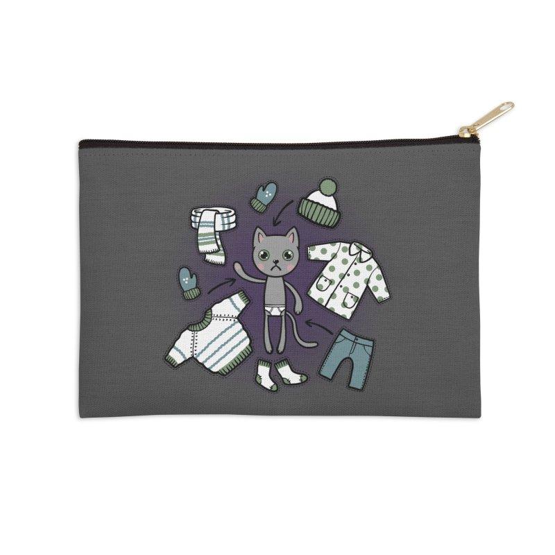 Hello winter... Accessories Zip Pouch by Crazy Pangolin's Artist Shop