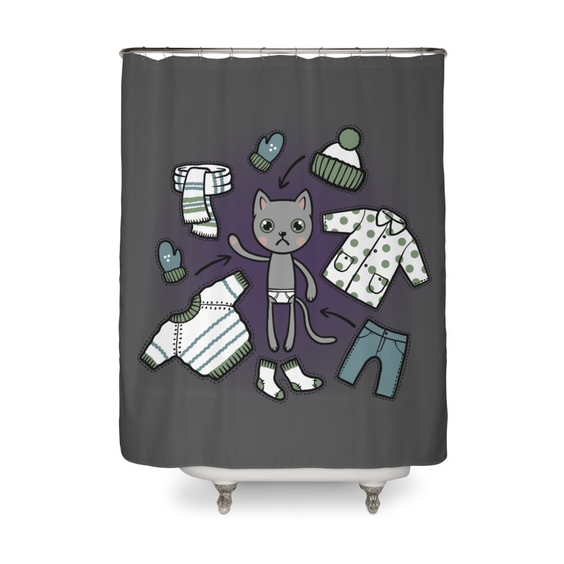 Hello winter... Home Shower Curtain by Crazy Pangolin's Artist Shop