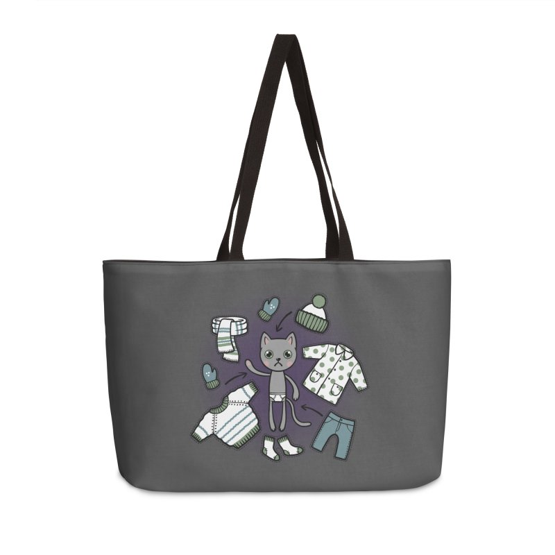 Hello winter... Accessories Weekender Bag Bag by Crazy Pangolin's Artist Shop