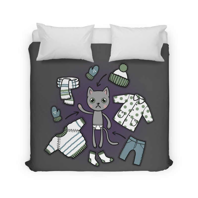 Hello winter... Home Duvet by Crazy Pangolin's Artist Shop