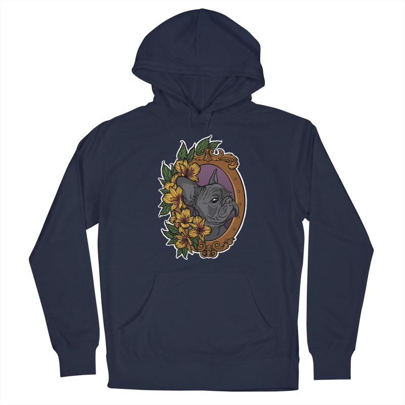 French Bulldog Women's French Terry Pullover Hoody by Crazy Pangolin's Artist Shop