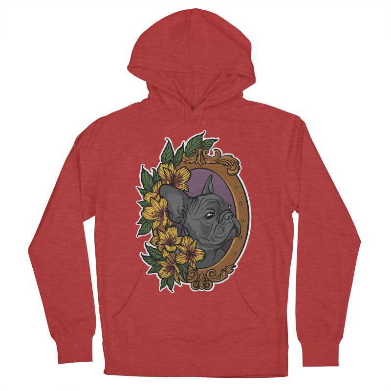 French Bulldog Men's French Terry Pullover Hoody by Crazy Pangolin's Artist Shop