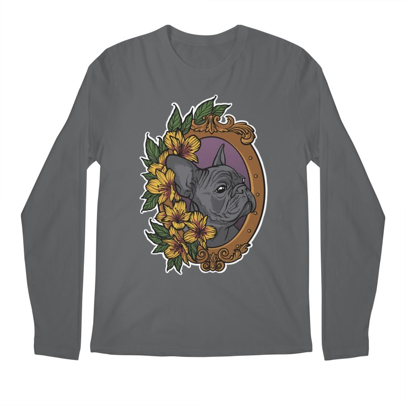 French Bulldog Men's Longsleeve T-Shirt by Crazy Pangolin's Artist Shop
