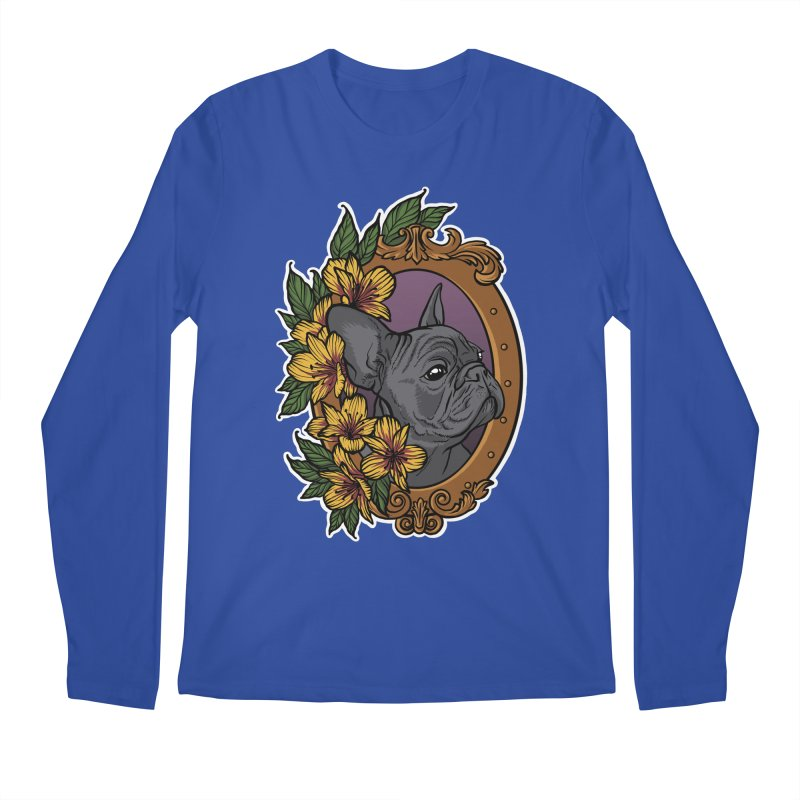 French Bulldog Men's Regular Longsleeve T-Shirt by Crazy Pangolin's Artist Shop