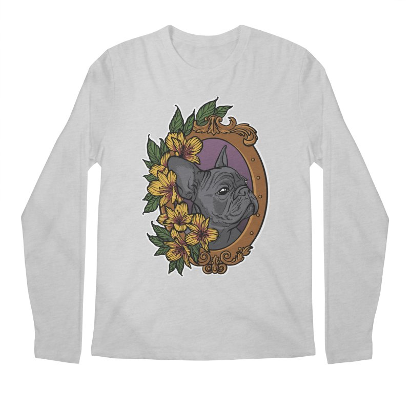 French Bulldog Men's Regular Longsleeve T-Shirt by Crazy Pangolin's Artist Shop