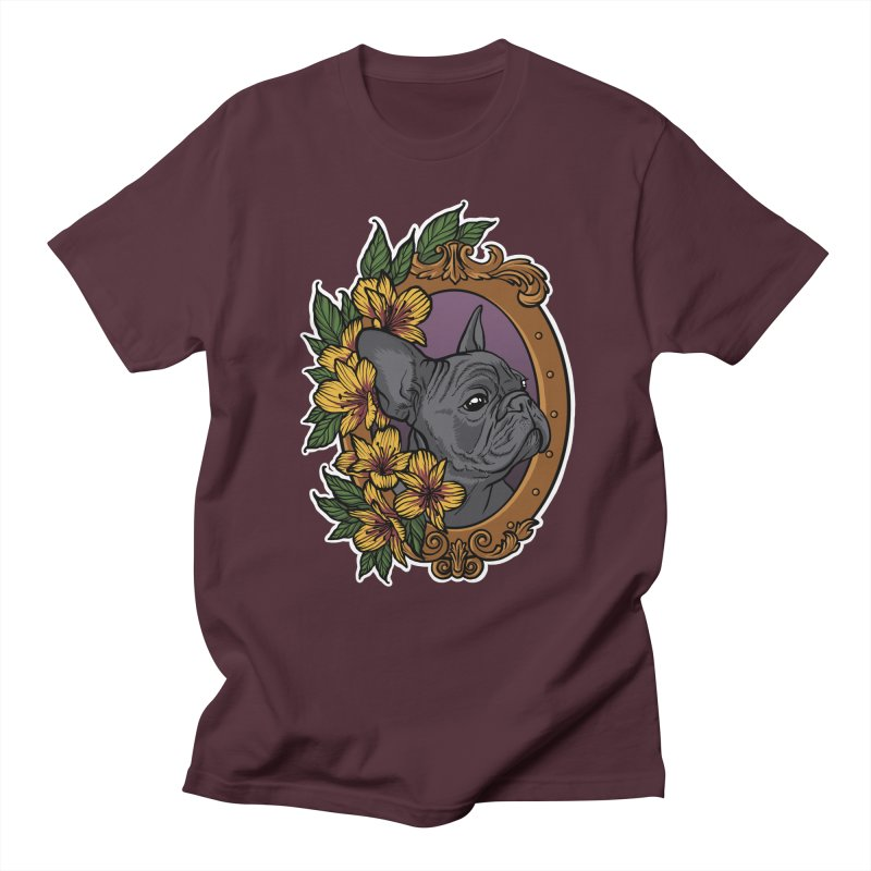 French Bulldog Women's Regular Unisex T-Shirt by Crazy Pangolin's Artist Shop