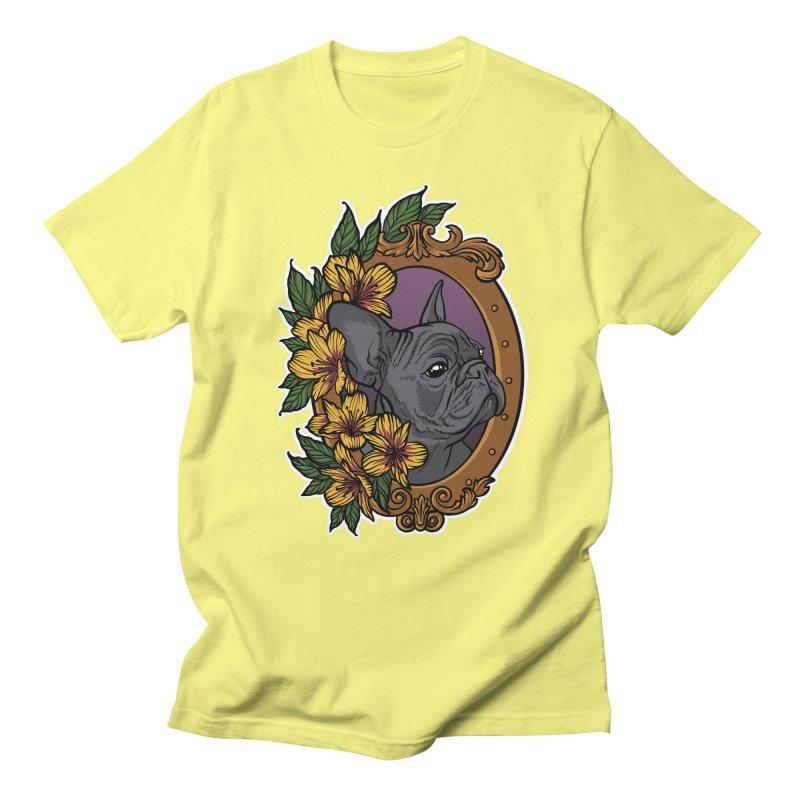French Bulldog Men's Regular T-Shirt by Crazy Pangolin's Artist Shop