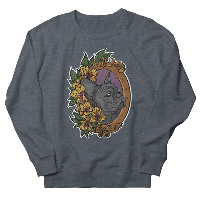 French Bulldog Women's French Terry Sweatshirt by Crazy Pangolin's Artist Shop