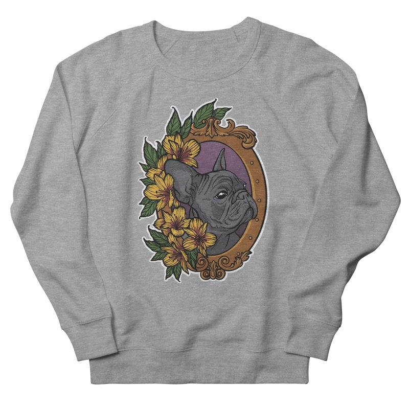 French Bulldog Men's Sweatshirt by Crazy Pangolin's Artist Shop