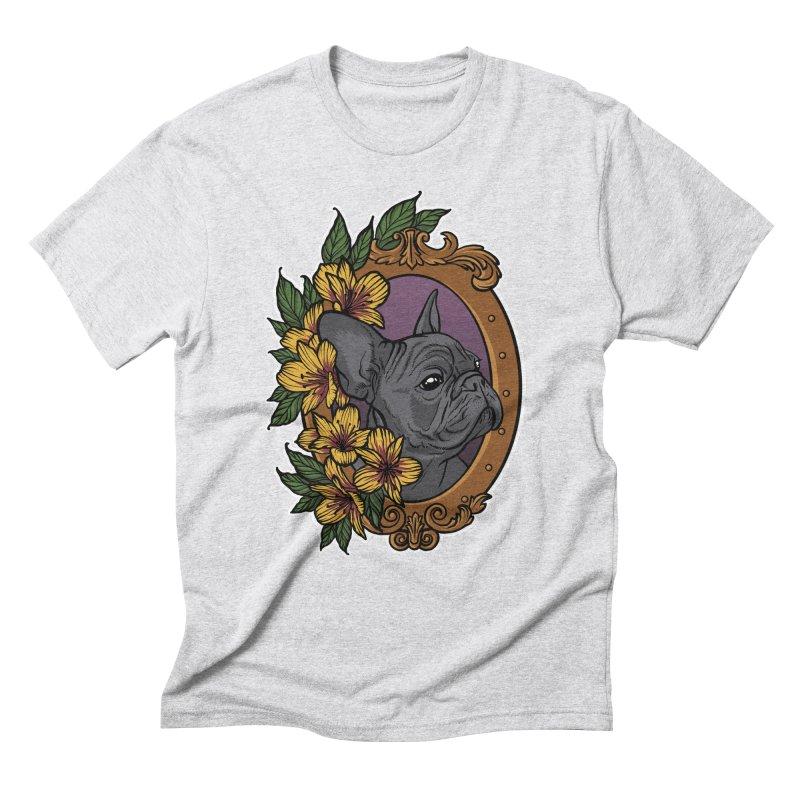 French Bulldog Men's Triblend T-Shirt by Crazy Pangolin's Artist Shop