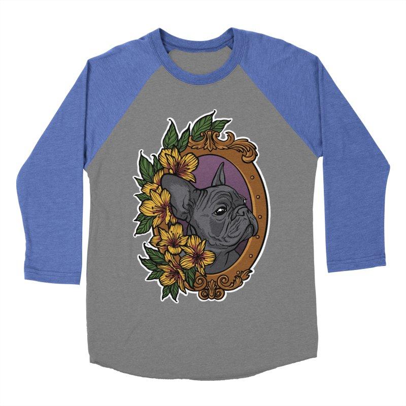 French Bulldog Women's Baseball Triblend Longsleeve T-Shirt by Crazy Pangolin's Artist Shop