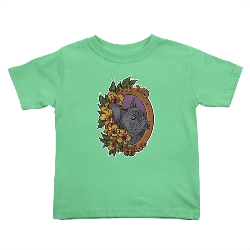 French Bulldog Kids Toddler T-Shirt by Crazy Pangolin's Artist Shop