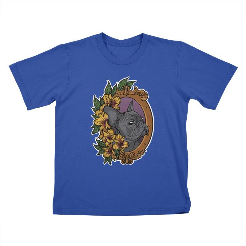 French Bulldog Kids T-Shirt by Crazy Pangolin's Artist Shop