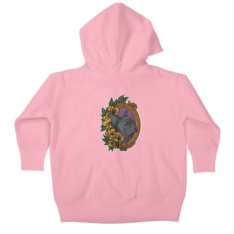 French Bulldog Kids Baby Zip-Up Hoody by Crazy Pangolin's Artist Shop
