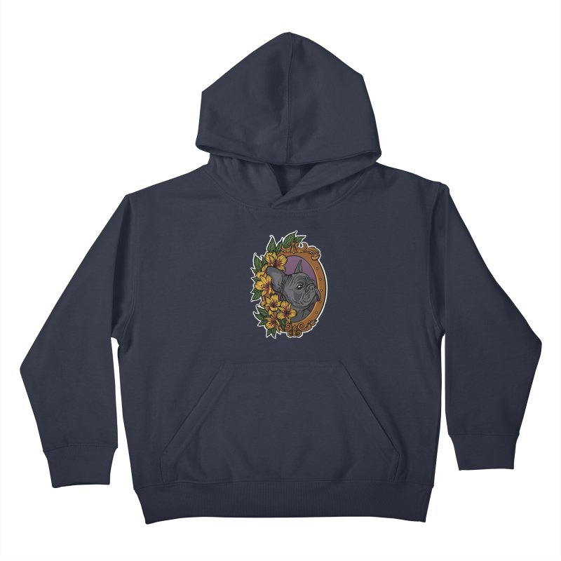 French Bulldog Kids Pullover Hoody by Crazy Pangolin's Artist Shop