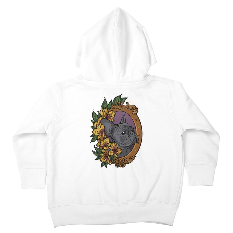 French Bulldog Kids Toddler Zip-Up Hoody by Crazy Pangolin's Artist Shop