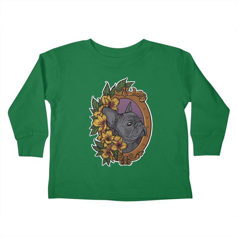 French Bulldog Kids Toddler Longsleeve T-Shirt by Crazy Pangolin's Artist Shop