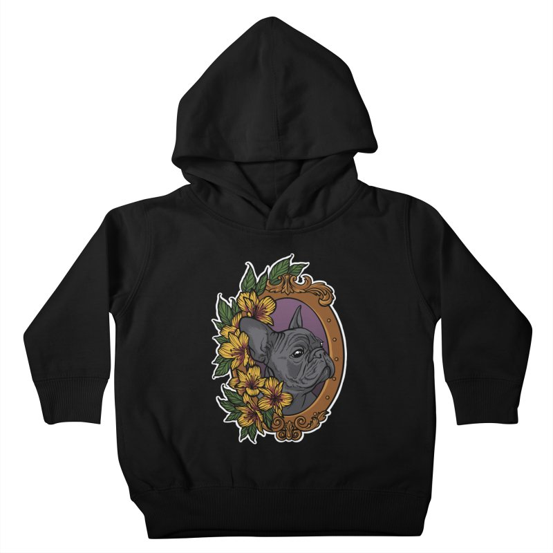 French Bulldog Kids Toddler Pullover Hoody by Crazy Pangolin's Artist Shop