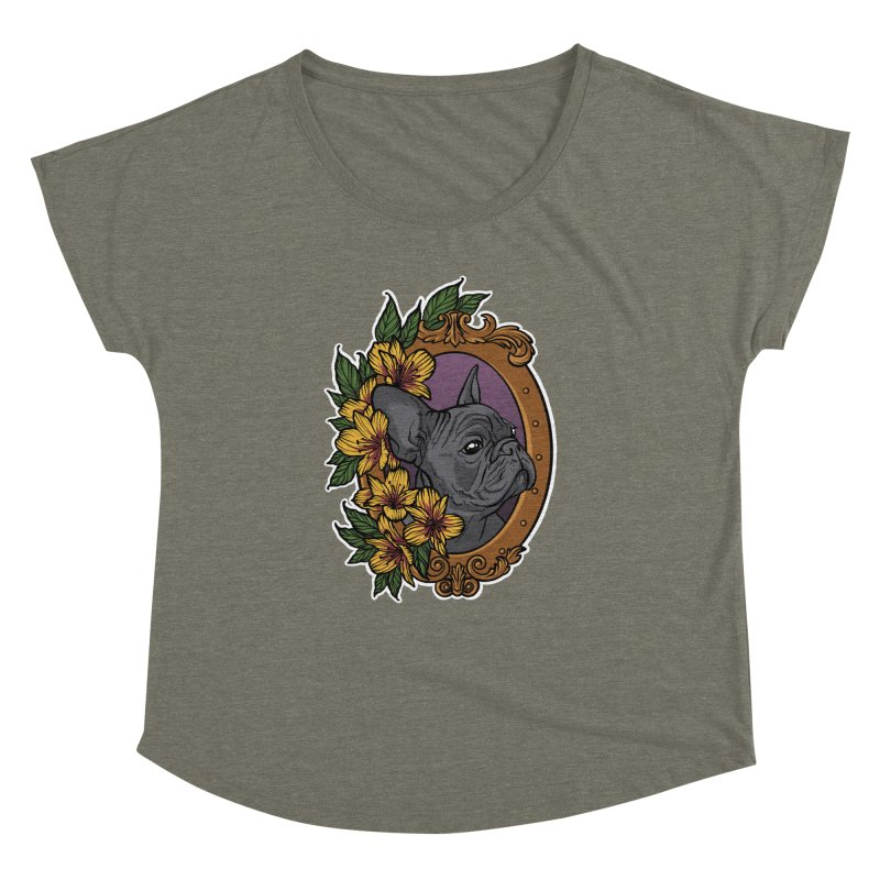 French Bulldog Women's Dolman Scoop Neck by Crazy Pangolin's Artist Shop