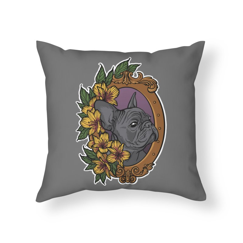 French Bulldog Home Throw Pillow by Crazy Pangolin's Artist Shop