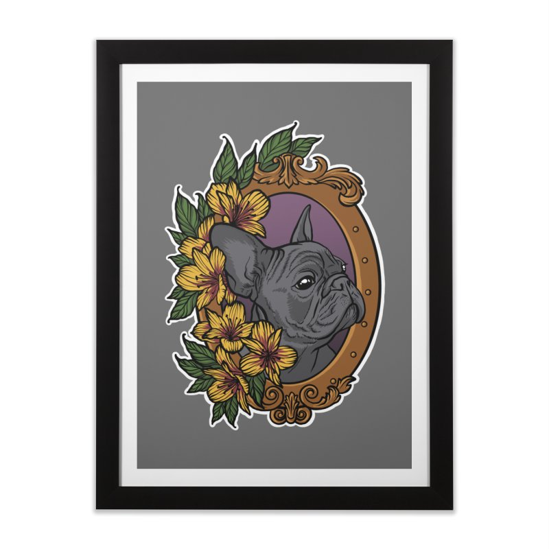 French Bulldog Home Framed Fine Art Print by Crazy Pangolin's Artist Shop
