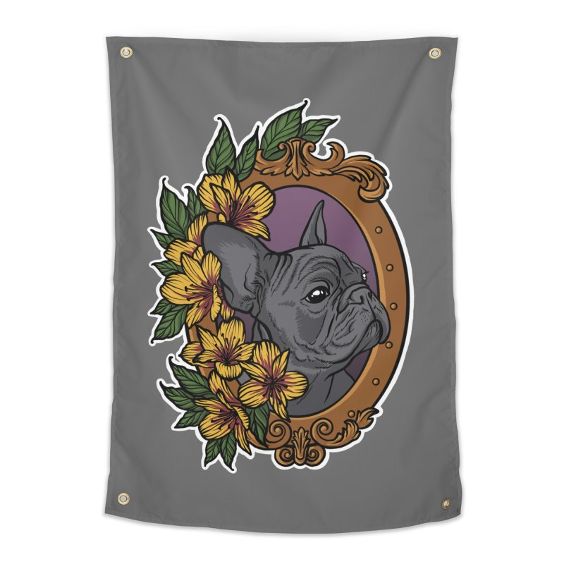 French Bulldog Home Tapestry by Crazy Pangolin's Artist Shop