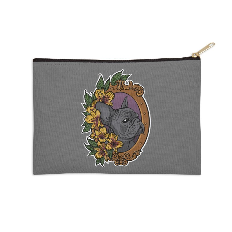 French Bulldog Accessories Zip Pouch by Crazy Pangolin's Artist Shop