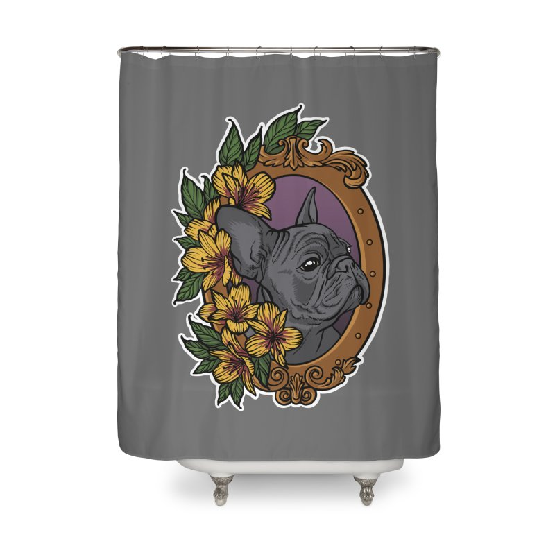 French Bulldog Home Shower Curtain by Crazy Pangolin's Artist Shop