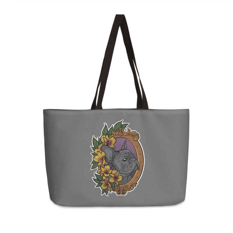 French Bulldog Accessories Weekender Bag Bag by Crazy Pangolin's Artist Shop