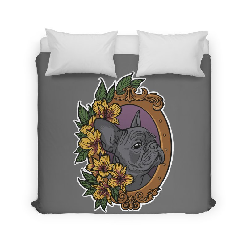 French Bulldog Home Duvet by Crazy Pangolin's Artist Shop