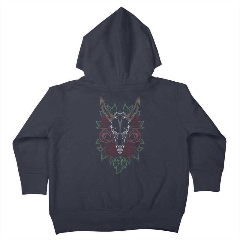 Deer skull Kids Toddler Zip-Up Hoody by Crazy Pangolin's Artist Shop