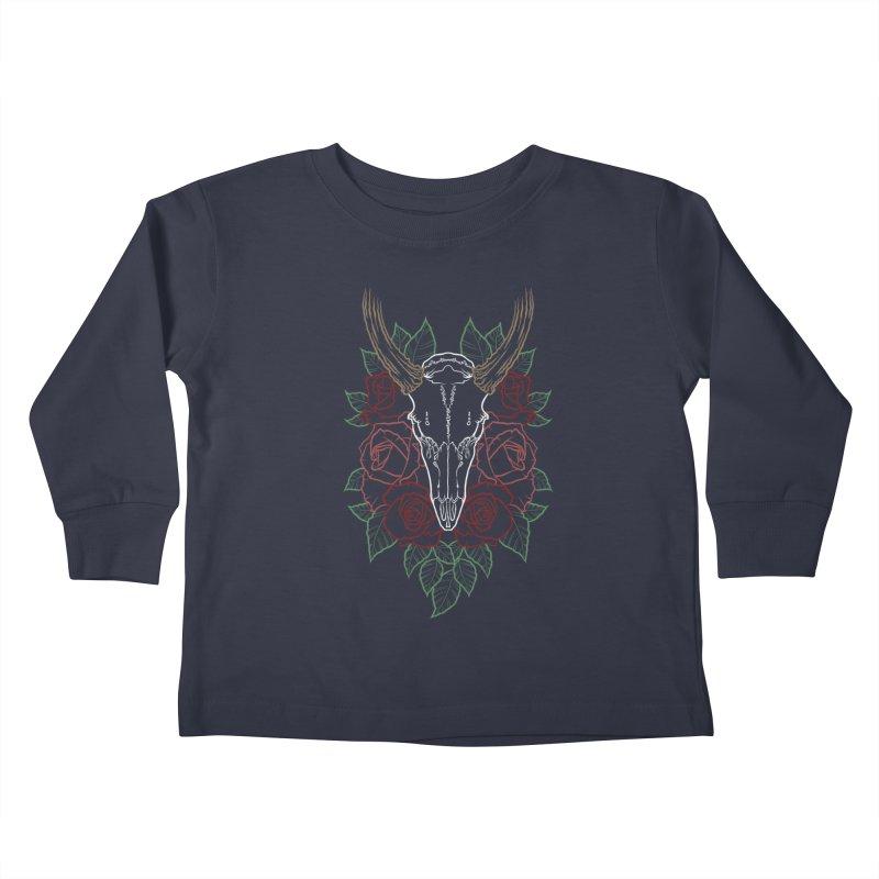 Deer skull Kids Toddler Longsleeve T-Shirt by Crazy Pangolin's Artist Shop