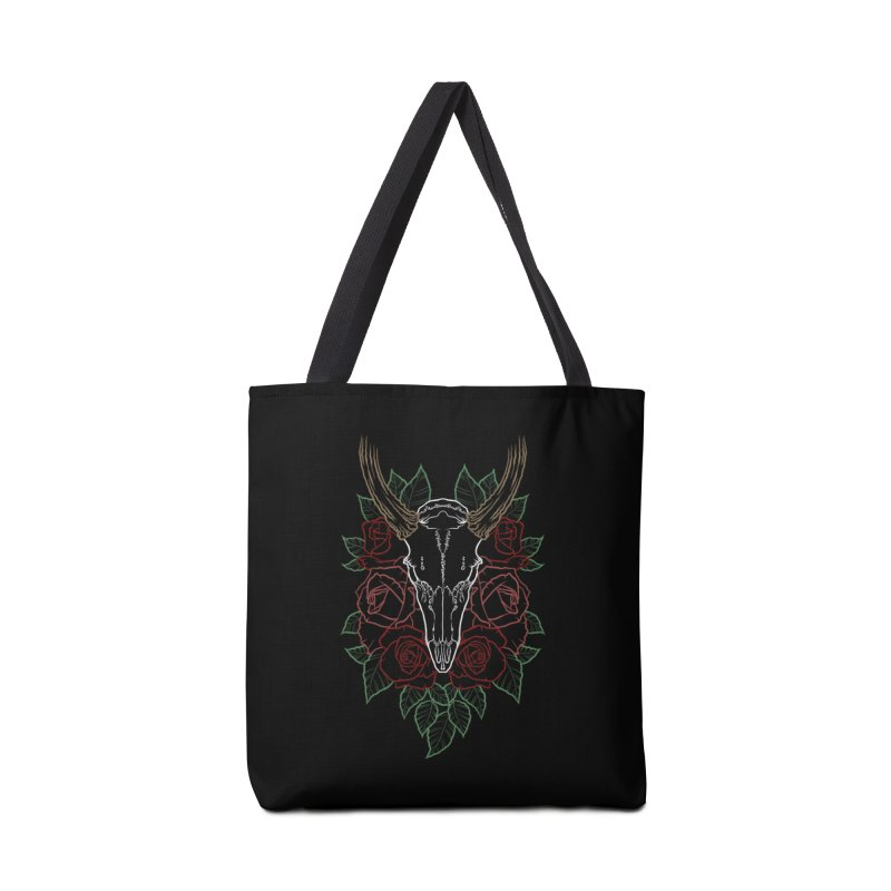 Deer skull Accessories Bag by Crazy Pangolin's Artist Shop