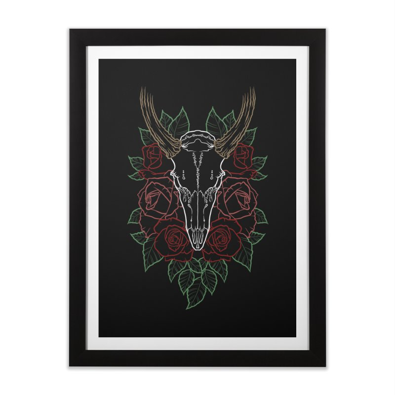 Deer skull Home Framed Fine Art Print by Crazy Pangolin's Artist Shop