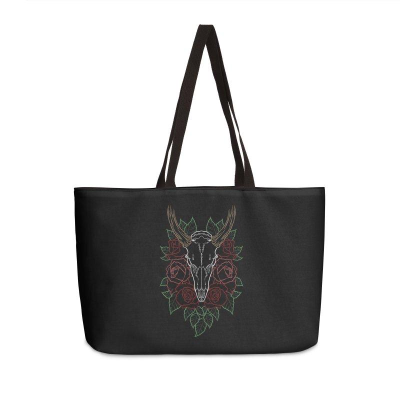 Deer skull Accessories Weekender Bag Bag by Crazy Pangolin's Artist Shop