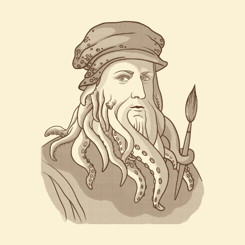 Leonardo da Vyjones by Crazy Pangolin's Artist Shop