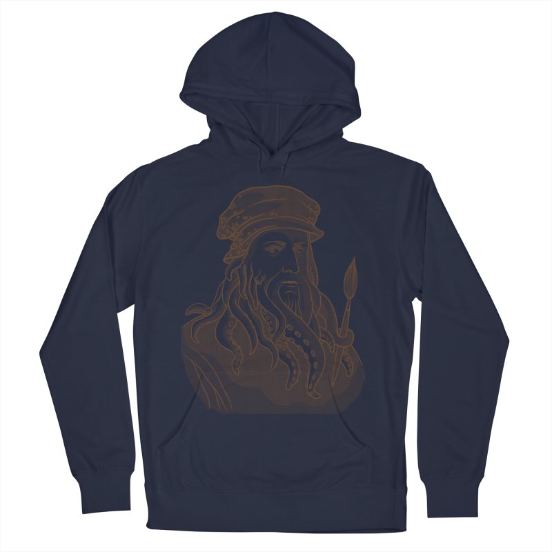 Leonardo da Vyjones Women's French Terry Pullover Hoody by Crazy Pangolin's Artist Shop