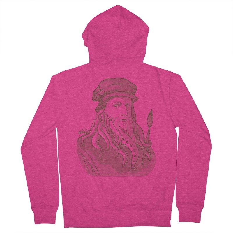 Leonardo da Vyjones Women's Zip-Up Hoody by Crazy Pangolin's Artist Shop
