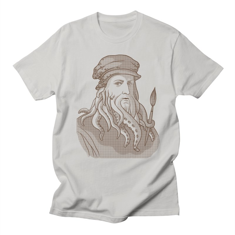 Leonardo da Vyjones Women's Regular Unisex T-Shirt by Crazy Pangolin's Artist Shop