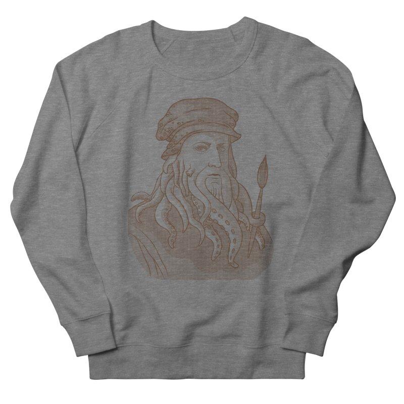 Leonardo da Vyjones Men's French Terry Sweatshirt by Crazy Pangolin's Artist Shop