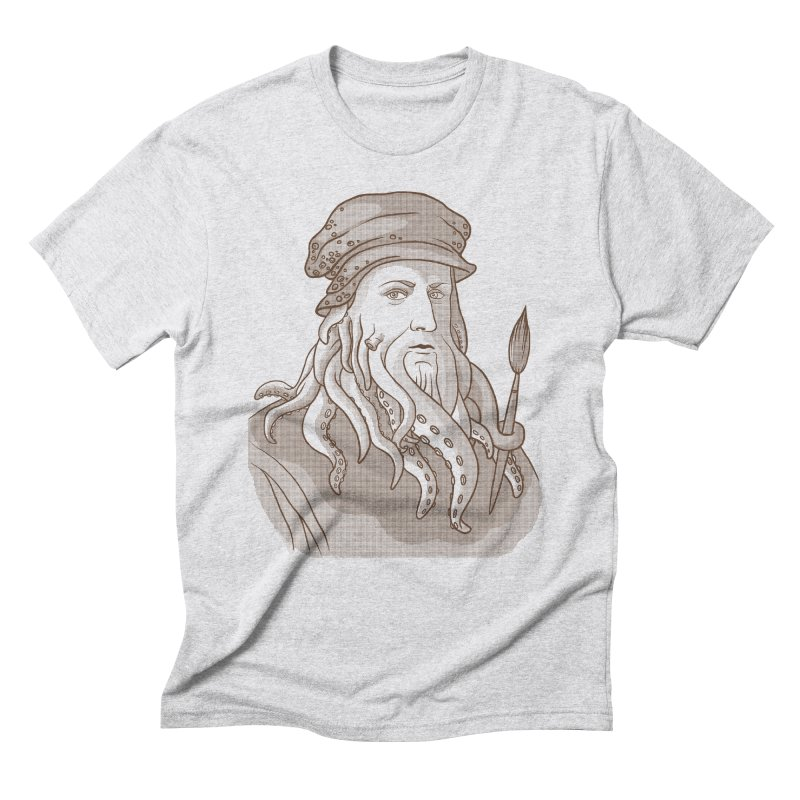 Leonardo da Vyjones Men's Triblend T-Shirt by Crazy Pangolin's Artist Shop