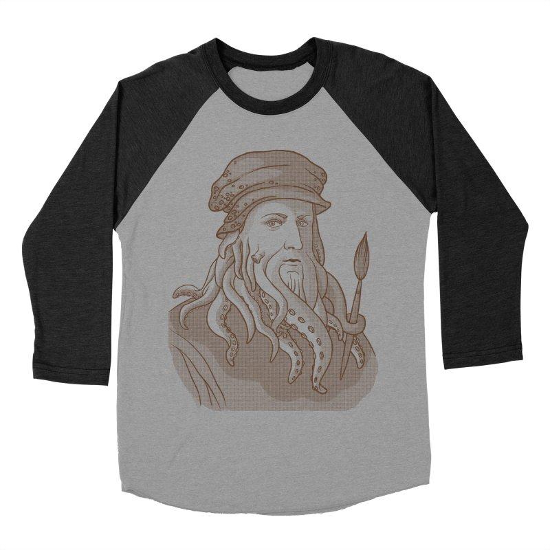Leonardo da Vyjones Women's Baseball Triblend T-Shirt by Crazy Pangolin's Artist Shop