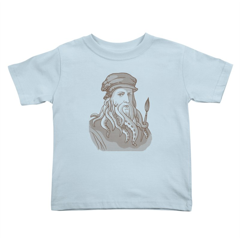 Leonardo da Vyjones Kids Toddler T-Shirt by Crazy Pangolin's Artist Shop