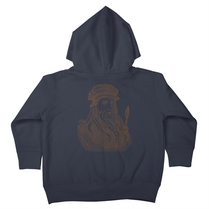 Leonardo da Vyjones Kids Toddler Zip-Up Hoody by Crazy Pangolin's Artist Shop