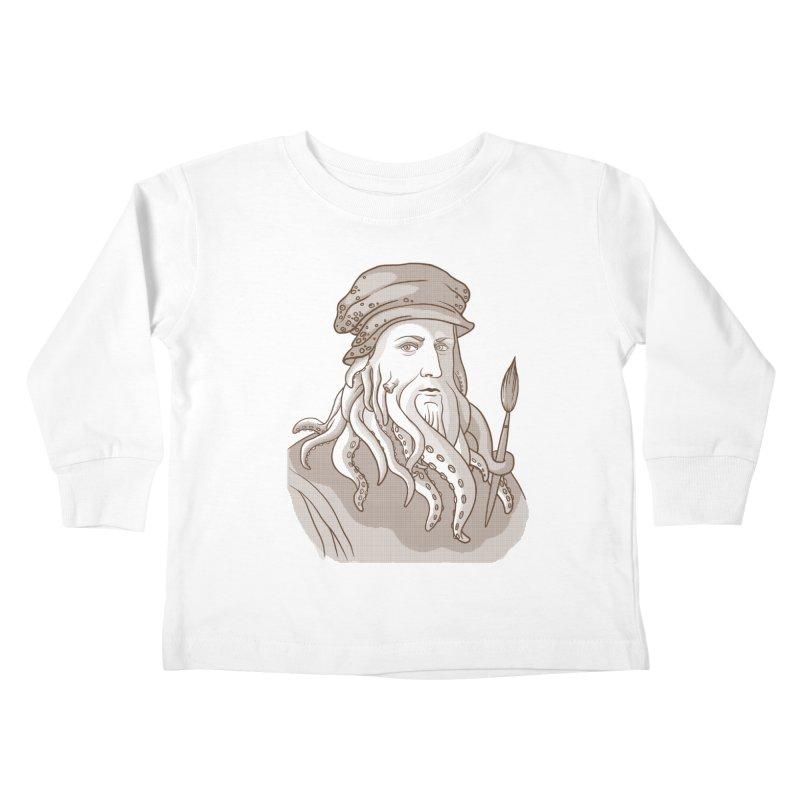 Leonardo da Vyjones Kids Toddler Longsleeve T-Shirt by Crazy Pangolin's Artist Shop