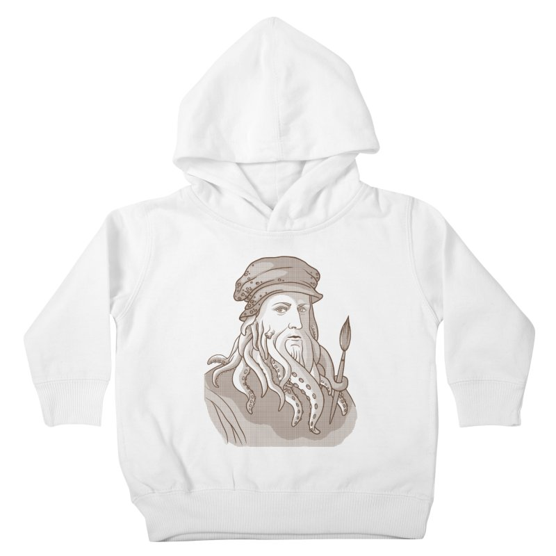 Leonardo da Vyjones Kids Toddler Pullover Hoody by Crazy Pangolin's Artist Shop